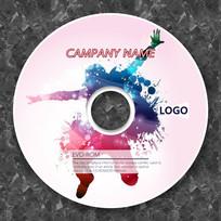 炫彩粉色音乐光盘设计
