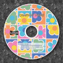 彩色卡通花朵幼儿园音乐光盘