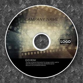 电影胶片纪录片cd封面设计 PSD