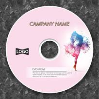 粉色女性舞蹈音乐企业光盘
