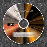 金属质感创意企业光盘