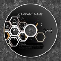 科技六角形未来感cd封面设计