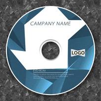 蓝色几何立体时尚创意cd封面设计
