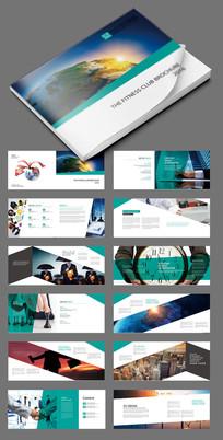蓝色商务科技画册