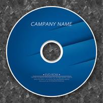 蓝色纸痕质感cd封面设计