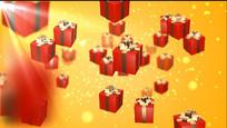 礼品盒晚会抽奖视频素材