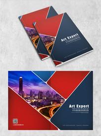 线条镂空创意企业画册封面