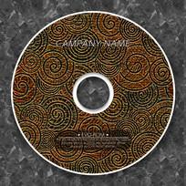 圆形曲线复古金属质感光盘