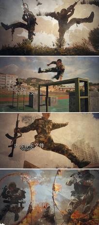 震撼大气军队武警宣传片头模板