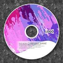 紫色喷溅动感CD光盘