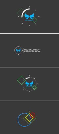 线条图形动画logo演绎片头模板