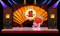 中国风中式婚礼舞台背景