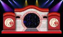 中式汉式古典婚礼现场背景布置背景 PSD