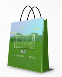 足球运动卡通可爱手提袋设计