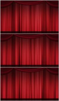 红色幕布视频
