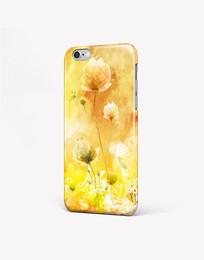 温馨手绘花朵手机壳图案