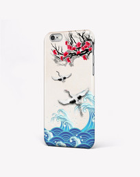 中国风意境仙鹤风景手机壳图案