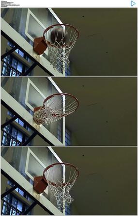 打篮球投篮实拍视频素材