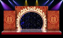 大气中式婚礼婚庆舞台背景设计