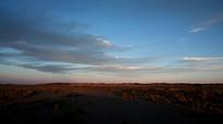 戈壁沙漠蓝天白云视频