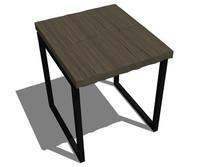 工业风木质凳子SU skp