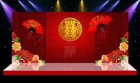 古典婚礼舞台背景PSD设计印刷喷绘印刷