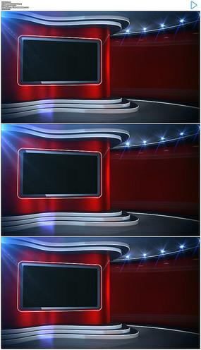 红色透明通道演播室视频