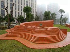 红砖雕塑景观