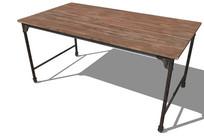 木质复古桌子SU