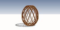 木质网格雕塑