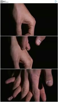 男人牵女人手实拍视频素材