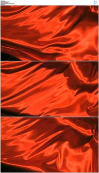 飘动的红色旗帜动态视频