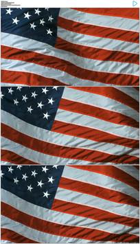 飘动的美国国旗实拍视频素材
