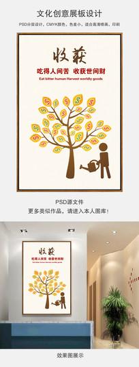 企业展板金钱树创意海报设计