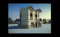泰国风情建筑别墅模型小品3Dmax模型下载