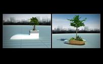 五缘湾(景观小品花池)创意花坛树池