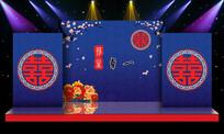 喜庆中国风婚庆婚礼舞台背景PSD设计