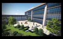 音乐学院(鸟瞰景观)校园景观设计模型素材