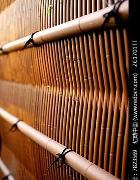 竹制编制栏杆墙面装饰