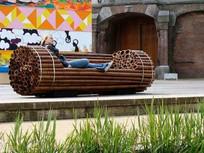 竹制创意公共座椅