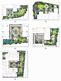 别墅景观彩平图
