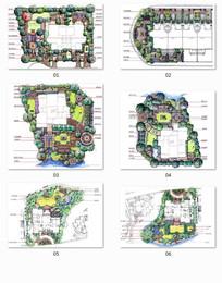 别墅住宅绿化彩平图