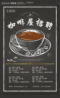 创意咖啡屋招聘海报设计