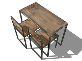 复古工业风学习桌