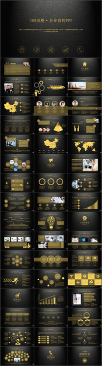黑金质感尊贵企业展示业务介绍PPT