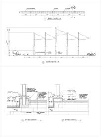旗台节点详图 CAD