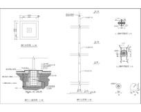 旗台做法施工图 CAD