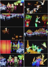 2k超清花灯灯盏实拍视频素材