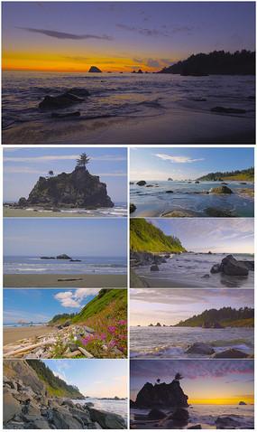 4K超清海边美景实拍视频素材