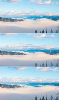 4k超清山峰上云雾缭绕视频 avi
